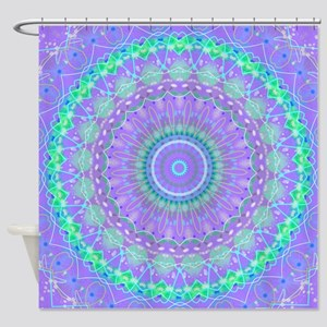 Funky Fresh Purple Mandala Shower Curtain